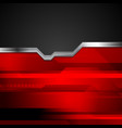 Red and black tech metallic style background vector image vector image