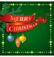 ribbon christmas vector image vector image