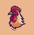 rooster head logo vector image