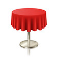 round red clean table restaurant round table vector image vector image
