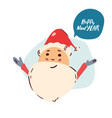 santa claus portrait happy new year christmas vector image vector image