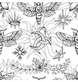 seamless pattern with mysterious symbols vector image