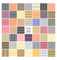 set 48 ethnic seamless patterns vector image