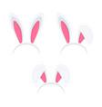 set easter rabbit ears mask vector image