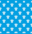 shirt with print pattern seamless blue vector image vector image