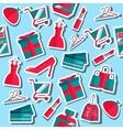 Shopping flat pattern vector image