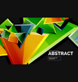 squares and triangles geometrical background vector image vector image