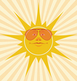 sun smiles vector image vector image