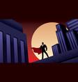 super businessman city night vector image vector image