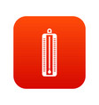 thermometer indicates low temperature icon digital vector image vector image