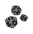 three dices icon images vector image