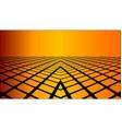 three dimensional orange background vector image