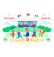 travel together ready to go flat vector image vector image