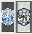 Vertical banners for organic milk