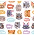Cat head seamless pattern vector image