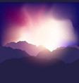 abstract mountain landscape vector image vector image