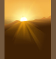 abstract yellow sunset with defocused lights vector image vector image