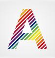Alphabet Letter A vector image