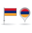 Armenian pin icon and map pointer flag vector image