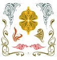 Art nouveau style design elements set vector image vector image