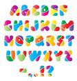 Artistic alphabet font with stripes vector image