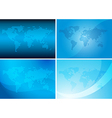 backgrounds with abstract maps - blue set vector image
