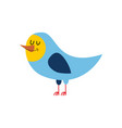 bird isolated cheerful singing fowl on white vector image
