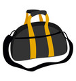 black bag with yellow stripes on white background vector image vector image