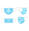 blue medical mask for doctor and patient vector image