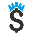 Business Crown Flat Icon vector image vector image