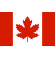 canada flag with real red maple leaf vector image vector image