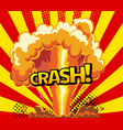 cartoon explosion effect with smoke colorful vector image vector image