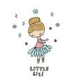 cartoon little girl cartoon little girl vector image