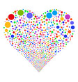circle fireworks heart vector image vector image