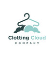 clothing cloud logo design template vector image vector image