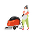 commercial cleaning services flat isolated vector image vector image