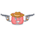cowboy thyroid character cartoon style vector image