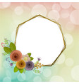 craft paper flowers spring autumn wedding vector image vector image