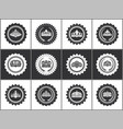 crowns on heraldic stamps black and white set vector image
