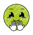 doodle nice face gesture emoji expression vector image vector image