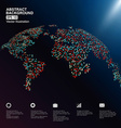 Dots colorful three-dimensional map of the world vector image vector image