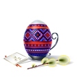 Easter egg blue verba1 vector image