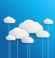 Elegant empty clouds on blue background vector image