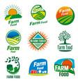 farm food logo vector image vector image