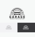 garage logo design vector image
