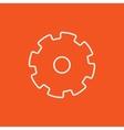 Gear line icon vector image
