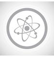 Grey atom sign icon vector image vector image