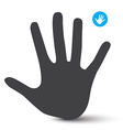Hand Icon Palm Hand Symbol Isolated on White vector image vector image
