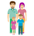 happy family father daughter mother and son vector image