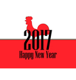 Happy new year 2017 Card with rooster and text vector image vector image